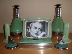 Art Deco Depression Green
