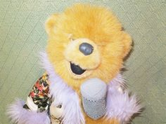 "TRIXIE Country Bears Disney Store 15"" Singing Microphone Plush Stuffed Teddy  #DisneyStore"