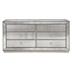 Omni Mirrored 6 Drawer Chest from Z Gallerie