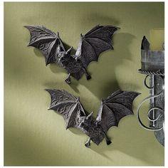 Buy Design Toscano Vampire Bat - The Vampire Bats of Castle Barbarosa Wall Sculptures - Set of 2 - Bat Figure - Halloween Bats Halloween Bat Decorations, Halloween Wall Decor, Halloween Bats, Wall Decorations, Halloween Vampire, Halloween Garland, Halloween Foods, Halloween 2017, Halloween Design