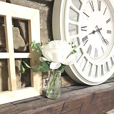 Simple decor with big clock. IG: cleanhousewithkids