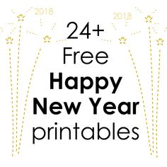 Free printable Happy New Year 2018 printables