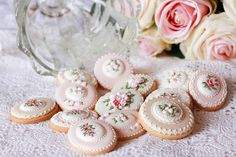 Beautiful intricately decorated biscuits - shame to eat!