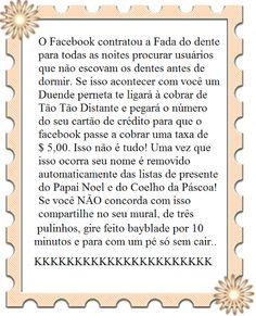FACEBOOK VAI COBRAR MENSALIDADES DOS USUÁRIOS? http://www.marciacarioni.info/2013/07/facebook-sera-pago-ou-nao-saiba-da.html