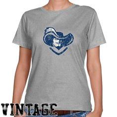 NCAA Xavier Musketeers Ladies Ash Distressed Logo Vintage Classic Fit T-shirt - http://www.cincyshop.net/cincinnati-sports/xavier-university/ncaa-xavier-musketeers-ladies-ash-distressed-logo-vintage-classic-fit-t-shirt/