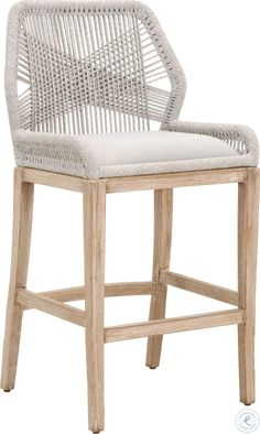 One Kings Lane Easton Outdoor Barstool - Smoke Gray Counter Height Stools, Decor, Island Chairs, Wicker Bar Stools, Furniture, Chair Set, Stools For Kitchen Island, Bar Stools Kitchen Island, Stool