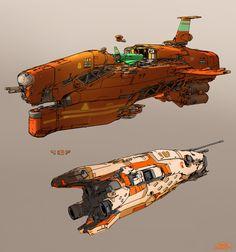 concept ships: Concept spaceship art by SPARTH