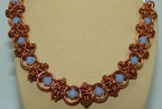 Hand-made Solid Copper Chain Maille & 'Captured' Swarovski Crystals Necklace in Jewellery & Watches, Handcrafted Jewellery, Necklaces & Pendants | eBay