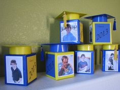more grad centerpieces from tissue boxes!