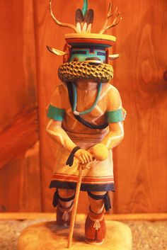 Native-American-kachina-doll  Hopi Indian Deer Dancer