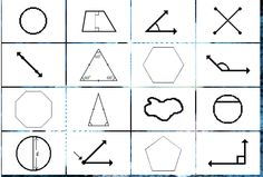 "This is an image from this resource on the Internet4Classrooms' ""Fourth Grade Interactive Math Skills - Geometry"" resource page:    Identify Geometric Shapes.     Match the shape with the correct name to uncover a picture."