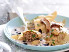 Raviolis aux cèpes, sauce foie gras Foie Gras, Gourmet Recipes, Pasta Recipes, Cooking Recipes, Healthy Recipes, Liver Recipes, Christmas Recipes, Cooking Ideas, Buffets