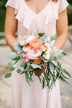 pink bridesmaid bouquet   Michele Shore Photography   Glamour & Grace