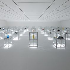 Japanese designers Nendo have designed an exhibition of craft objects at the 21st Century Museum of Contemporary Art in Kanazawa, Japan.