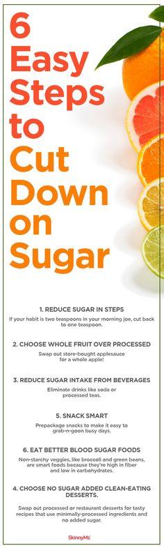 6 Easy Steps to Cut Down on Sugar #detox #weightloss