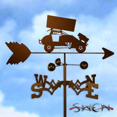 SPRINT RACE CAR RACING Weathervane