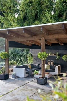 44 incredible backyard storage shed design and decor ideas 10 Outdoor Pergola, Outdoor Landscaping, Outdoor Rooms, Gazebo, Landscaping Ideas, Pergola Plans, Outdoor Seating, Outdoor Dining, Dining Area