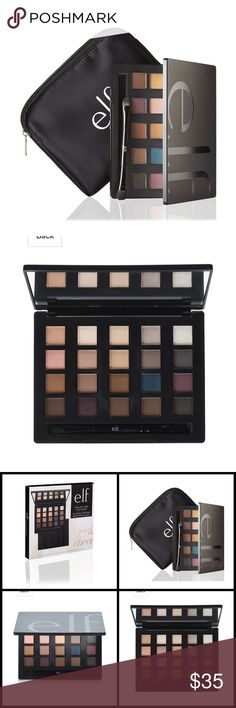NIB Limited Edition elf Love Your Look Palette ❤Limited Edition & No Longer Available from elf❤  New in Box, Unopened e.l.f. Cosmetics Love Your Look 20 Color Eye Shadow Palette  Includes: Palette  Double Ended Brush Makeup Bag  Size: 0.8 x 9.2 x 8.5 inches  The e.l.f. Love Your Look 20 Color Eye Palette is ideal for any occasion. With 20 velvety eyeshadow shades to choose from, in a variety of finishes, it's easy to mix and match for a gorgeous look. Sephora Makeup Eyeshadow