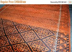 40% OFF SALE Vintage Faded Color Tribal Rug by TEKKARUG on Etsy