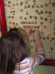 DIY Scrabble Magnet Board