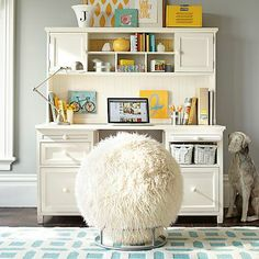 Love the desk ...the cabinets, drawers, and hutch ( sadly it's sold separate from the desk)... would make doing any assignment easier...everything could have a certain...spot    Beadboard Smart Desk + Hutch