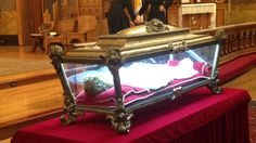 The remains of the youngest Catholic saint have been brought to a church in Chicago, as part of a national tour. Over the 24 hours that St. Maria Goretti's body will be on display, several thousand of the faithful were expected to pass through the doors of St. John Cantius Church.