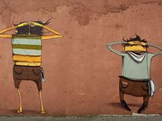 street art by Os Gemeos. 000