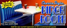 Diner Booth Set Chevie Style