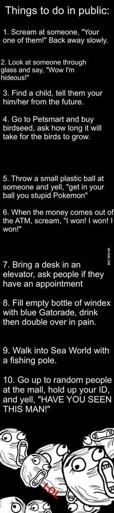 Things to do in public #SummerBucketList