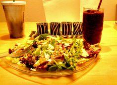 Chx salad & berry smoothie!
