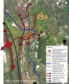 By Regeneration Of The Area These Were Incorporated Into Our Leaflet site analysis diagram