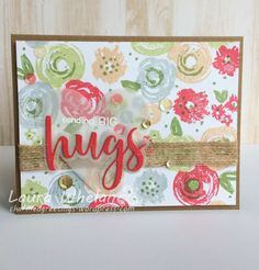The 109 best charmed greetings card creations images on pinterest in quick makes easy flower background using concord 9th turnabout stamp handmade card makingflower m4hsunfo