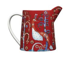 Pitcher Add the iittala Taika Red 17 oz. Pitcher to your iittala dinnerware collection. Klaus Haapaniemi's whimsical pattern now adorns a perfectly petite porcelain pitcher that is charming yet versatile. Scandinavian Living, Scandinavian Design, Carafe, Washi, Espresso Cups, Nordic Design, Decorative Items, Dinnerware, Modern Furniture