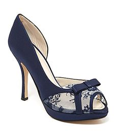 Caparros Hollie dOrsay Pumps #Dillards They have this in white, but it will only let me pin the black one. I like this one a lot