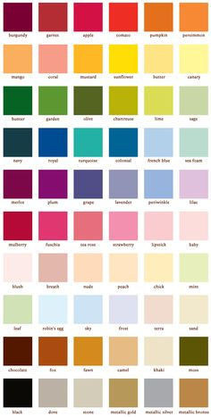 Color Schemes For The Home Colour Palettes House 21 Ideas Paint Color Chart, Paint Color Schemes, Room Paint Colors, Paint Colors For Home, House Colors, Color Names Chart, House Color Palettes, Pantone Colour Palettes, Pantone Color