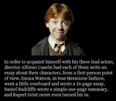 Wow. Not surprised at Emma Watson and Rupert Grint..