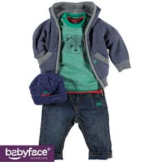 Part of the Babyface Newborn boys WINTER 2015 collection. In stores from August 2015. T-shirt, Cardigan, Pants and Hat.