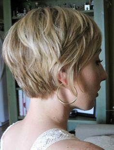 back of a shaggy pixie. by shopportunity Shaggy Bob Hairstyles, Short Hairstyles Fine, Short Layered Haircuts, Pixie Haircuts, Prom Hairstyles, Short Hair Cuts For Women, Short Hair Styles, Short Cuts, Pixie Haircut Fine Hair