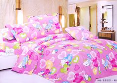 Happy Baby Pink & Blue Hello Kitty Full Bedding | eBay