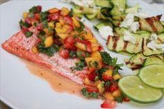 Salmon with Fruit Chimichurri ~ Gluten Free Club