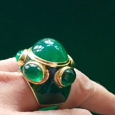 Popes ring Green on green. #Emerald #enamel #Chlorophyll #nature