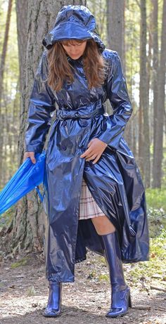 Blue PVC Raincoat