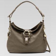 Gucci 232931 Cta2g 1508 G Wave'Medium Umh?ngetasche mit Hand Stitching A Gucci Damen Handtaschen