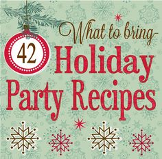 Holiday Party Recipes Is your December calendar full yet? How fun to celebrate with family, friends and neighbors! With so much to do and enjoy we thought we'd share our list of holiday party foods to make R… Holiday Treats, Christmas Treats, Holiday Parties, Holiday Fun, Holiday Recipes, Party Recipes, Christmas Recipes, Holiday Foods, Christmas Dishes