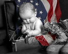Baby Military photography Cute idea for military
