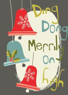 Improved 'Ding Dong Merrily on High' Christmas card design © Victoria Oatway
