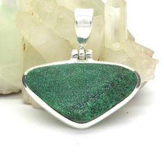 Malachite Druse Pendant 925 Sterling Silver | Crystalline Malachite Sparkles with Joy | Capricorn Scorpio | Crystal Heart Melbourne Australia since 1986