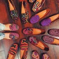 Teysha Mola Slippers - Our Molas are handcrafted by the women of the Kuna tribe in Kuna Yala, Panama. Each Mola is completely one-of-a-kind and becomes the most unique and vibrant smoking slipper!