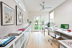 Contemporary Neutral Office - Create different areas that achieve different tasks.