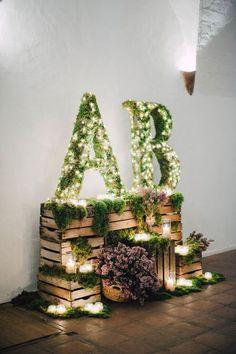 iniciales en tu boda